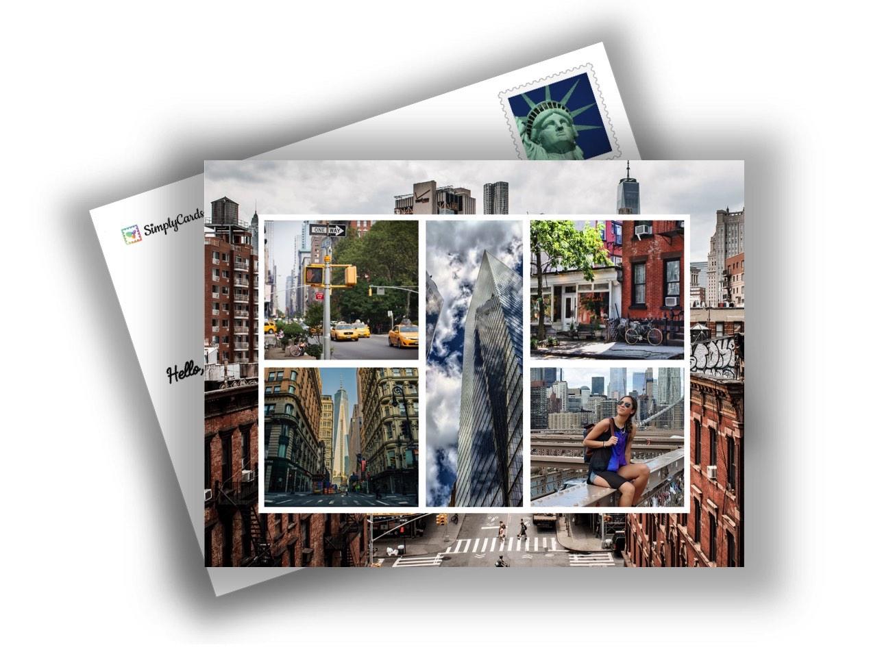 La carte postale de voyage